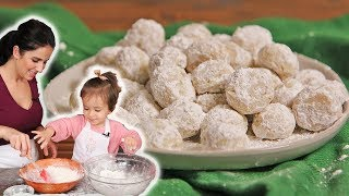 Snowball Cookies with Mommy & Mia