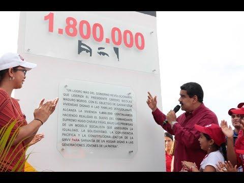 Presidente Nicolás Maduro entrega la vivienda 1.800.000, acto completo