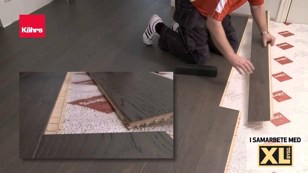 Hur du lägger golv (Kährs) - YouTube
