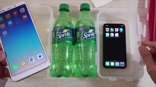 Xiaomi Redmi 5 Plus vs iPhone X - SPRITE Soda Test!