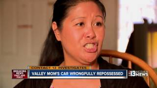 Family car wrongfully repossesed