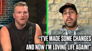 """Aaron Rodgers Tells Pat McAfee """"I Made Changes And I Love Life Again"""""""