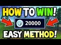 HOW TO WIN *20,000 V-BUCKS* FOR FREE! - Fortnite Blitz Showdown! - HOW TO WIN SHOWDOWN FREE V-BUCKS!