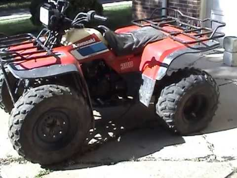 1987 KLF300 A 2WD Parts Quad #0713 - YouTube