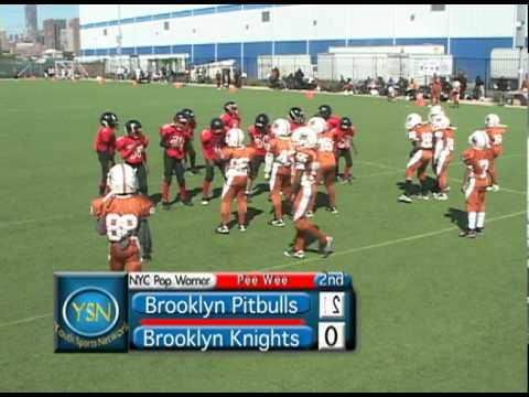 34Brooklyn Pitbulls v. Brooklyn Knights Peewee Div. NYC Pop Warner 2010