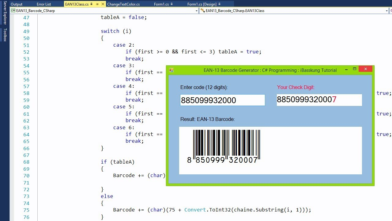 C# Programming How to Create EAN-13 Barcode Generator