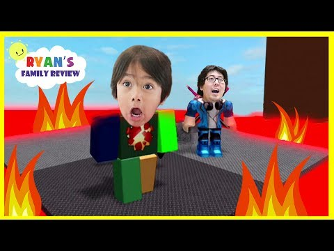 ROBLOX Floor is Lava! Let's Play Family Game Night with Ryan's Family Review
