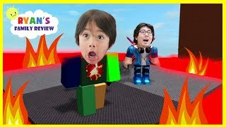 ROBLOX Floor est de la lave! Let's Play Family Game Night avec Ryan's Family Review