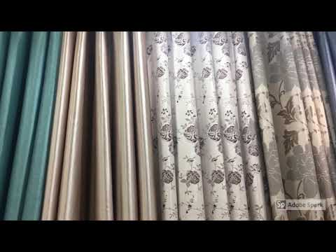 Making Curtains in Bangkok in Textile Market of Thailand