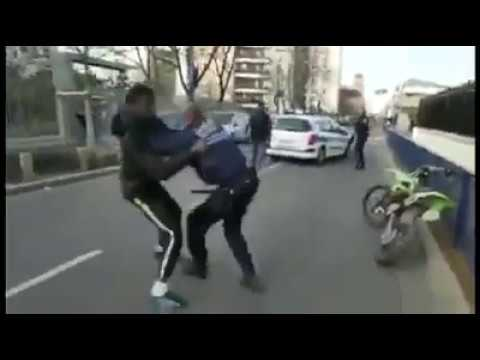 France - migrants vs police