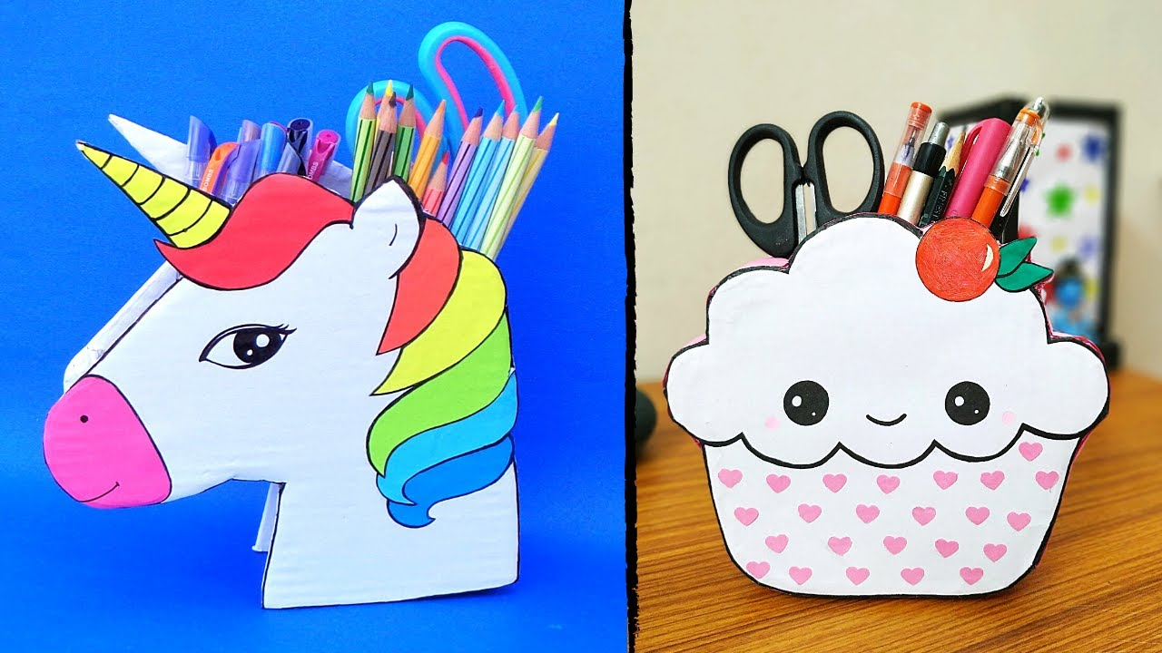 DIY Pen/Pencil Holder Ideas   How to make pen stand at home with waste materials  Best out of waste