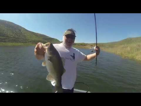 Bass fishing with jigs at lake skinner youtube for Lake skinner fish report