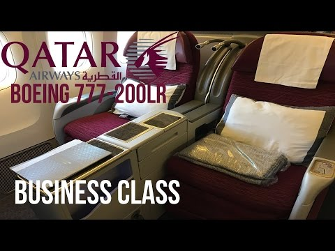 Qatar Airways Business Class Boeing 777-200LR Doha to Los Angeles Review