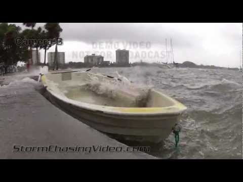 6/24/2012 Tropical Storm Debby hitting Sarasota Florida hard