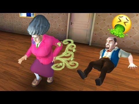 Отравил Бабку Учительница Мисс Ти и её Мужа! - Scary Teacher 3D
