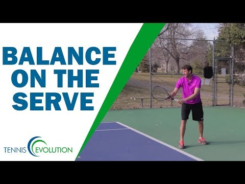 How To Feel Balance On The Serve | TENNIS SERVE
