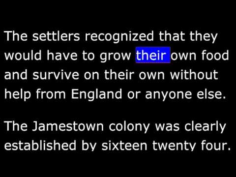 American History - Part 003 - Settlers In America -