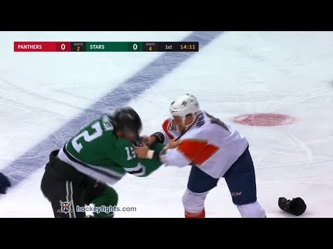 Micheal Haley vs Radek Faksa Jan 23, 2018
