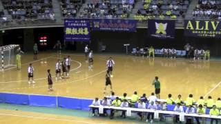 興南 VS 香川中央 後半戦 2014年 南関東総体 ハンドボール選手権大会