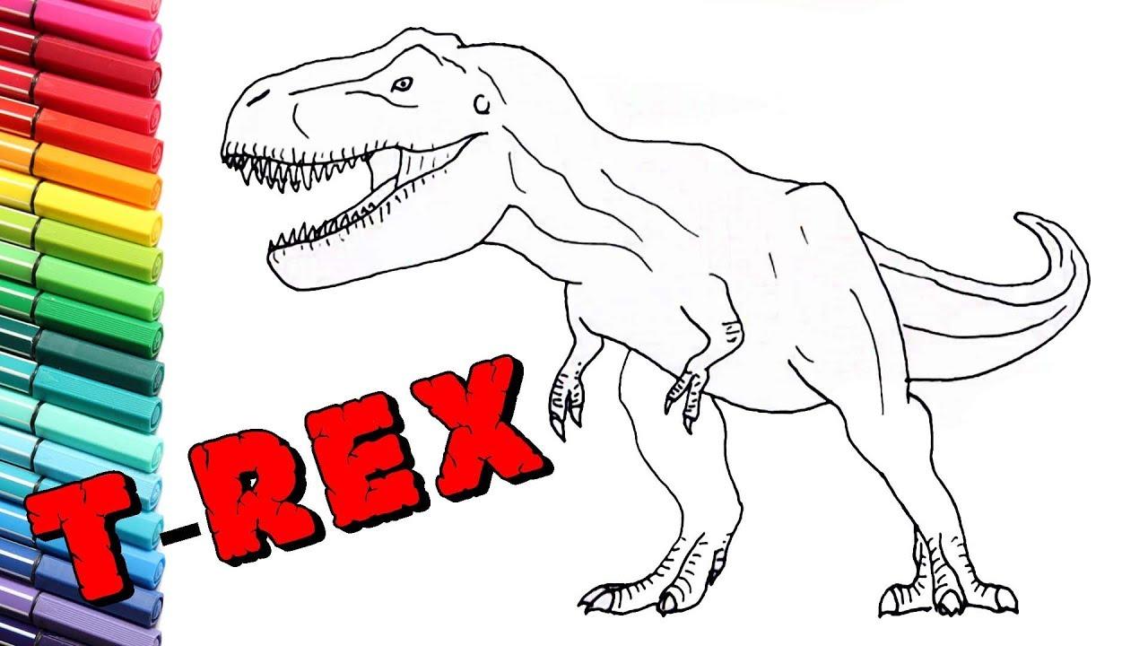 How To Draw New Jurassic Worls T Rex
