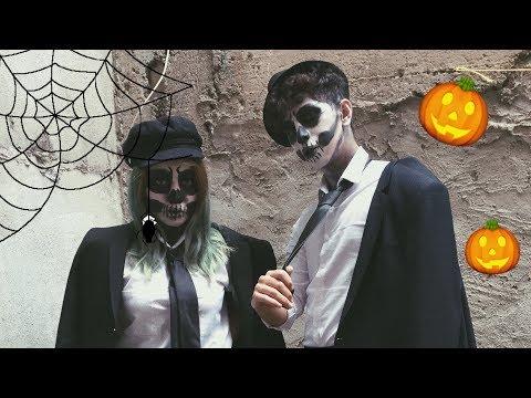 HALLOWEEN MAKEUP ''Skull'' / CADILAR BAYRAMI MAKYAJI ''Kuru kafa''