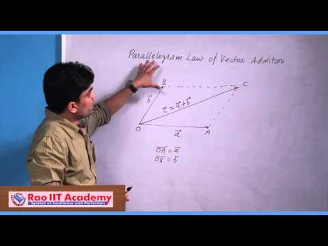 Introduction to Vectors Part 1 - IIT JEE Main and Advanced Maths Video Lecture [RAO IIT ACADEMY]