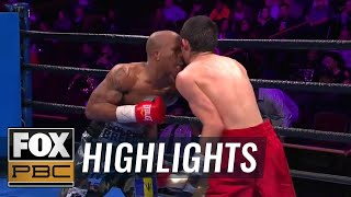 Cobia Breedy defeats Fernando Fuentes thanks to incidental headbutt | HIGHLIGHTS | PBC ON FOX