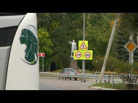 Трасса М5, город Шацк, Рязанская область - проходим сквозь город