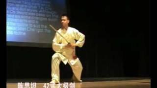 The 42 competition Form of Tai Chi Sword (Master Sitan Chen).avi
