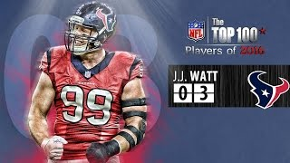 J.J. Watt, Defensive End for the Houston Texans. He lands at #03 on our list of the top 100 players of 2016. Subscribe to NFL: http://j.mp/1L0bVBu Subscribe to ...