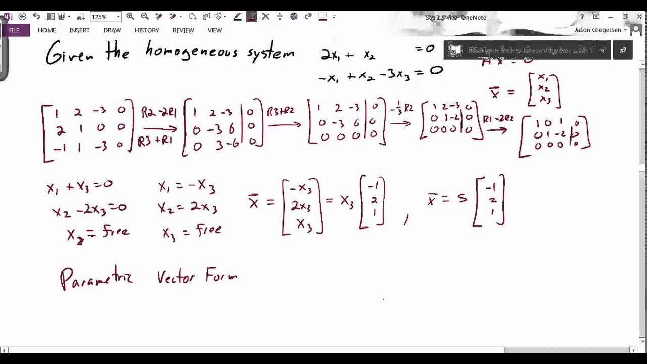 Sec 1.5 Rec parametric vector form - YouTube