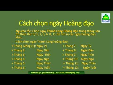 Huong Dan Tu Xem Ngay Gio Tot