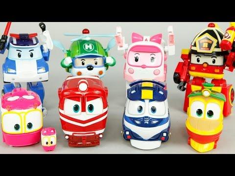 로봇트레인 로보카폴리 장난감 변신 비교 터닝메카드 미니특공대 옥토넛 GUP-X 레스큐 Robocar Poli & Robot Train Toys Робокар Поли Игрушки