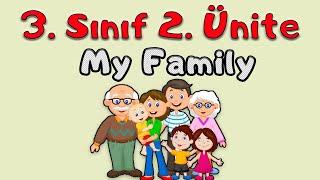 3. SINIF İNGİLİZCE 2. ÜNİTE  My Family   KONU ANLATIMI VE KELİMELERİ (ANİMASYONLU ANLATIM)