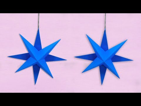 DIY 3D Paper Star Making || How To Make Christmas Ornaments Decor Star With Paper