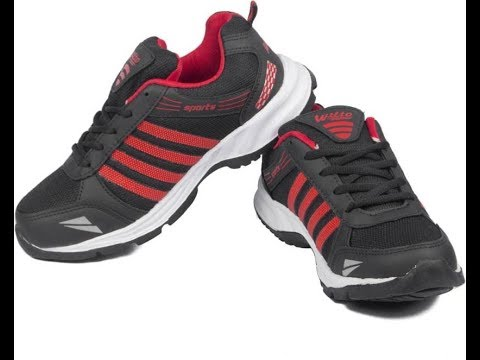 Asian Running Shoes(Black, Red) Sports shoes