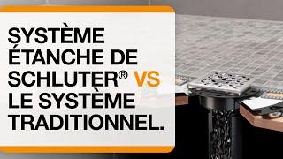 Le système de douche étanche Schluter®-Systems versus le sytème traditionnel.