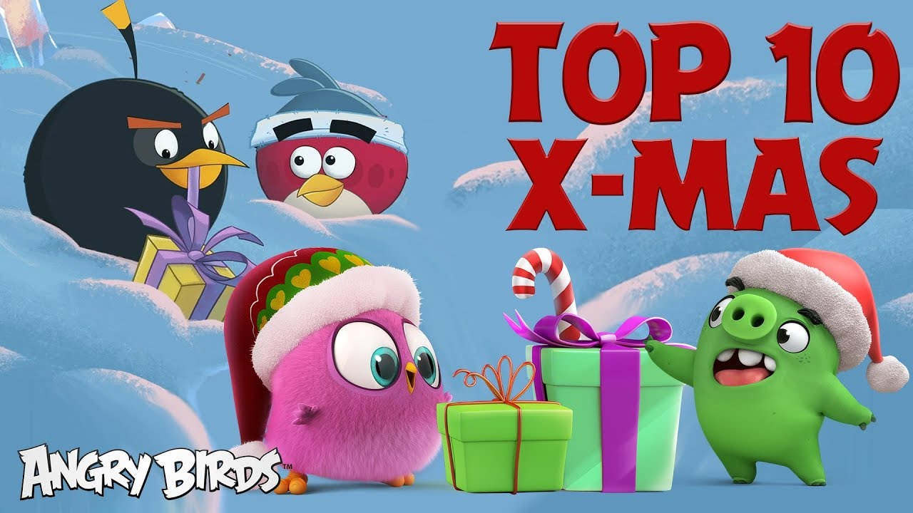 Angry Birds Top 10 Holiday Moments Christmas Special Youtube