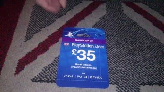 Nostalgamer Unboxes £35 Wallet Top-Up Playstation Store On Sony Playstation 3 4 Vita UK PAL Version