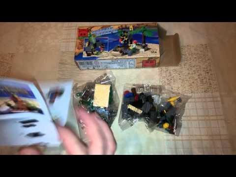 Конструктор Enlighten Treasure Transit Station Offshore Terminal Pirate Blocks Toy