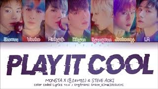 • artist: 몬스타엑스 (monsta x) & steve aoki song ♫: play it cool album: the 2nd album : take.2 (we are here) released: 2019.02.18 english translation: grac...