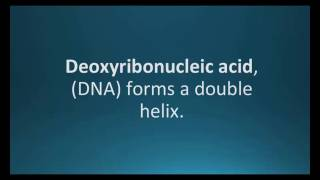 How to pronounce deoxyribonucleic acid (DNA) (Pharmcabulary for Memorizing Pharmacology Flashcard)