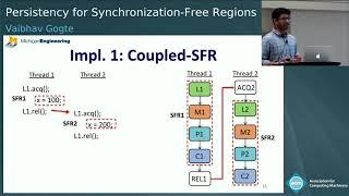 Persistency for Synchronization-Free Regions