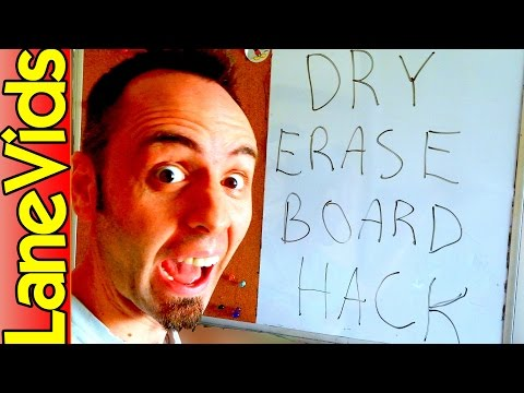 Best Way to Clean a Dry Erase Board or Whiteboard | How to Clean Dry Erase Board | LaneVids