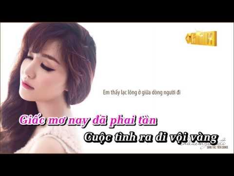 Phai Dấu Cuộc Tình  Bích Phương  karaoke HD