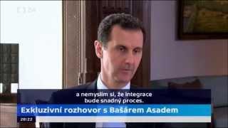 Rozhovor s Bašárem Asadem, 1.12.2015, část o integraci muslimů v Evropě