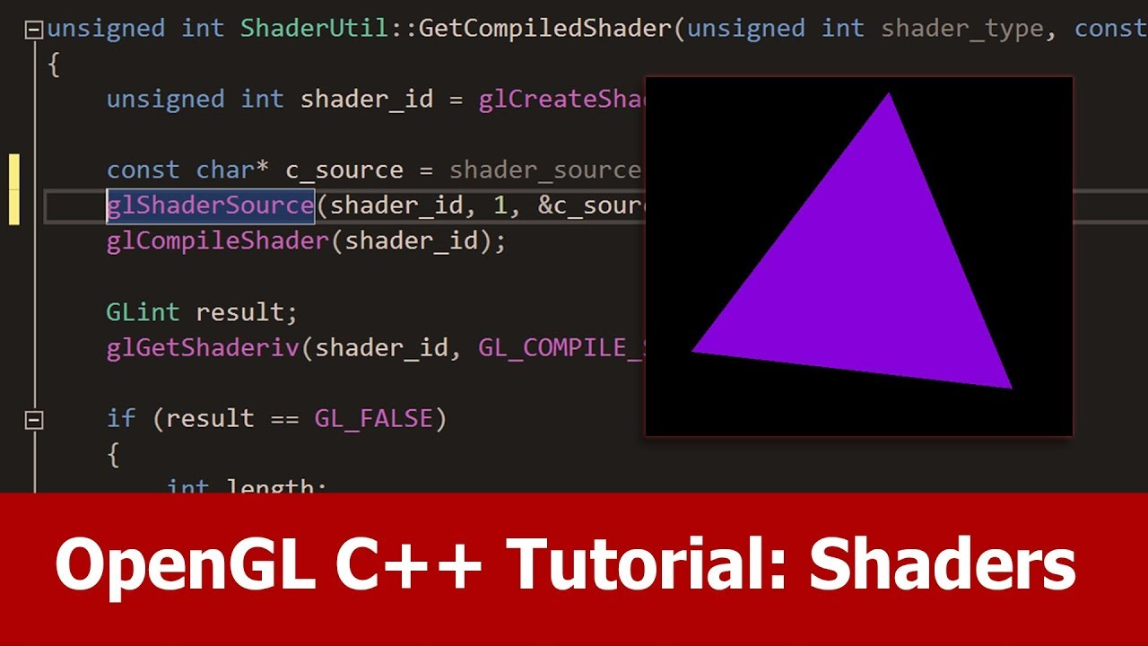 OpenGL C++ Shaders Tutorial by Jayanam