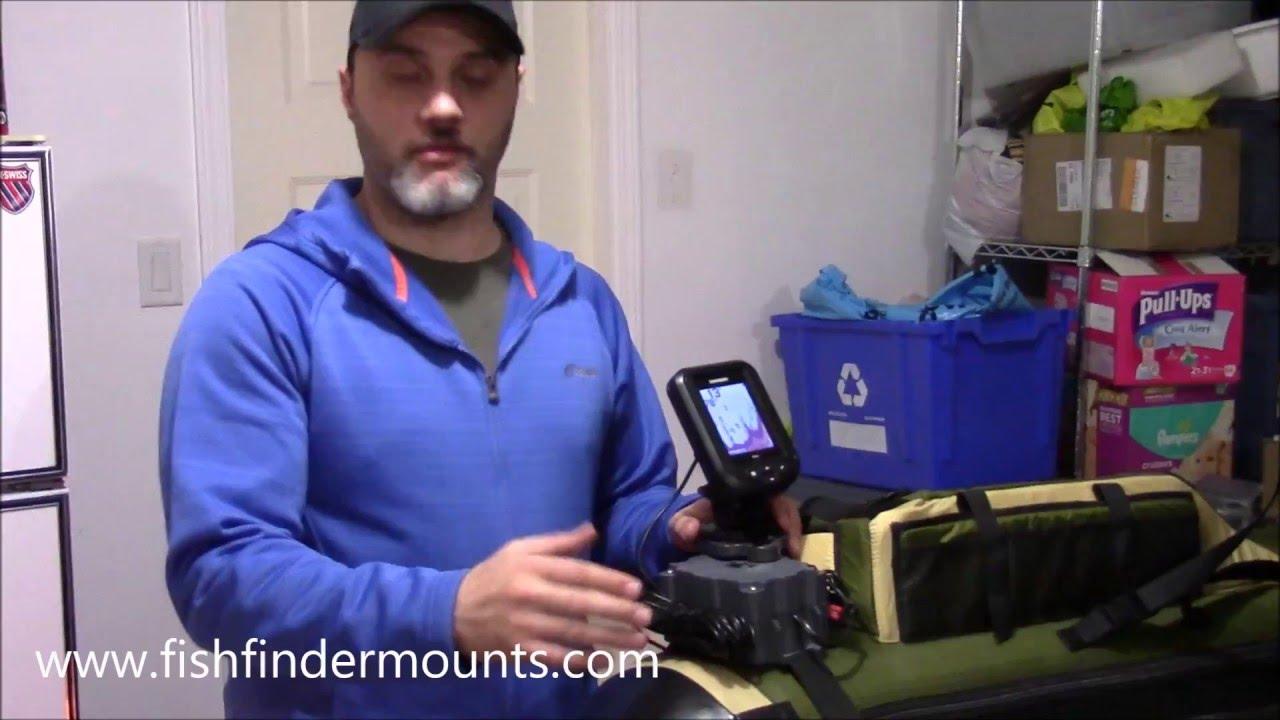A fish finder mount for kick boat float tube youtube for Float tube fish finder
