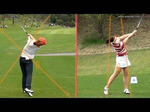 [Slow HD] CHUN In-Gee Driver Golf Swing Dual View (3)_KLPGA Tour