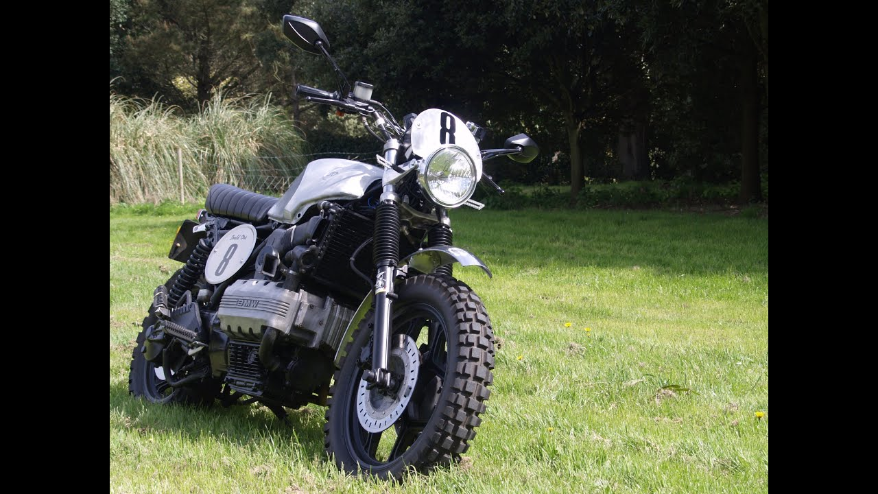 how to ride a bmw k100 tracker scrambler for fun on rural. Black Bedroom Furniture Sets. Home Design Ideas